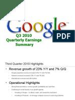 Google Earnings Slides (Q3, 2010)