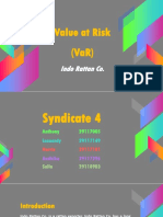 Syndicate 4 - Value at Risk