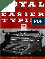 Royal KMM Typewriter Manual