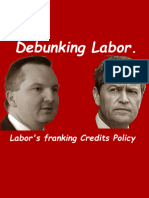 Bowen Claims Franking Credits Refunds Not Overpaid Tax.