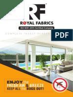 Royal Fabrics Mosquito Nets Chennai - Brochure
