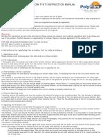 Polyfilm Instructions 5yr Warranty
