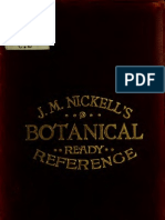 Botanical Ready Reference - Especially Designed for Druggists and Physicians 1880