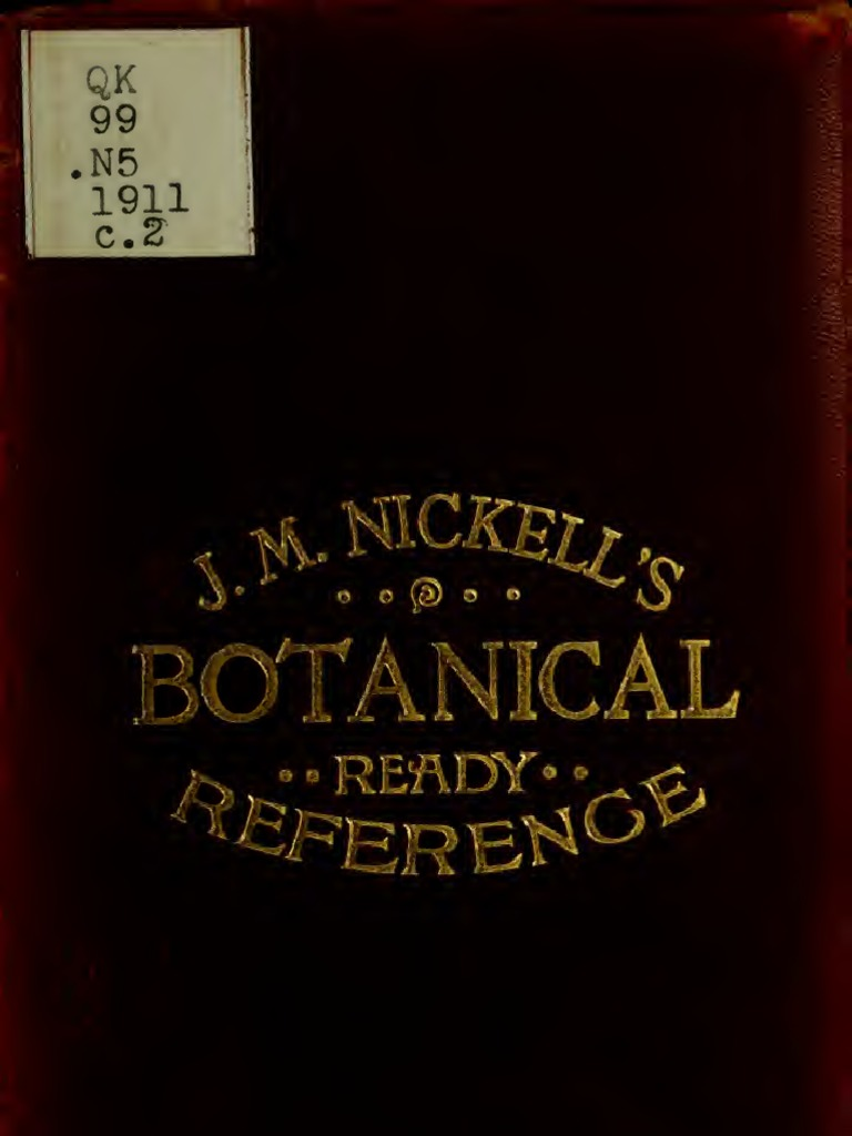 Botanical Ready Reference Especially Designed For Druggists And Ic 555 Fun With Timer Vidnis Physicians 1880