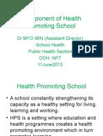 Component of Health Promoting School(11!6!2013)