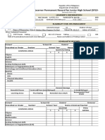 School Form 10 SF10 F137 JHS