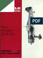 Profile Publications - Aircraft Profile - 063 - Fokker D XXI