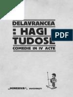 B S Delavrancea - Hagi Tudose, Comedie IV Acte