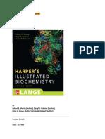 Harpers Illustrated Biochemistry Pdf