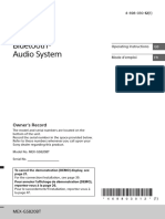 BLUETOOTH® CD Receiver SONY
