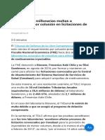 TDLC Impuso Millonarias Multas a Laboratorios Por Colusión en Licitaciones de Cenabast