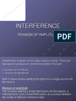4. Interference - Division of Amplitude