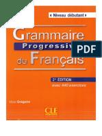 Gregoire M. - Grammaire Progressive Du Francais. Niveau Debutant - 2010