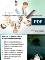 Anesthesia in Patients With Respiratory Diseases Fkuaj