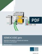 Manual Simocode Pro Profinet Es-mx