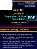 04- ABBen 131-Lecture on Making PowerPoint Presentation