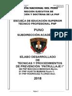 Silabo Patrullaje i Espartanos 2018