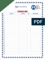 attendce sheet