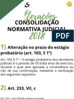 ATUALIZAÇÕES 2018 CONSOLIDAÇÃO NORMATIVA JUDICIAL RS