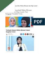 Kasus Perceraian Dini Nikita Mirzani Dan Dipo Latief Munakahah