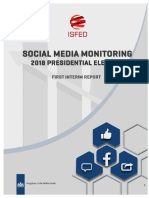 ISFED Social Media Monitoring for Presidential Elections - 1st Interim Rerport
