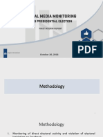 ISFED Social Media Monitoring for Presidential Elections - 1st Interim Report - Presentation