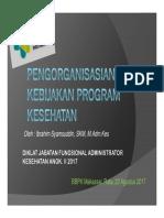 Pengorganisasian kebijakan kesehatan