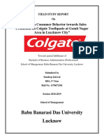 A Study on Consumer Behavior towards Sales Promotion on Colgate Toothpaste at Gomti Nagar Area in Luccknow City.docx