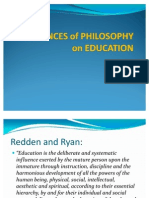 Influences of Philosophy on Education