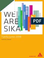 Tarifa SIKA JUN2018_Peninsula