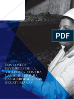 Los Costos invisibles de la VCM  para las micro empresas de Ecuador. ComVoMujer GIZ 2013