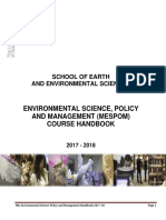 Mespom Manchester Handbook School Earth Sciences 2017