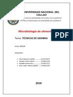 TECNICAS DE SIEMBRE DE MICROBIOLOGIA