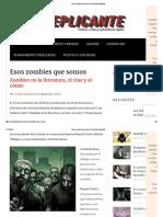 Esos Zombies Que Somos _ Revista Replicante