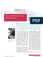 Een sociaal Europa vergt bezuinigingen, Marc De Vos (Itinera)