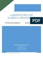 6 Nitracion Simple - Nitrobenceno