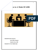 Conciliation as a mode of ADR