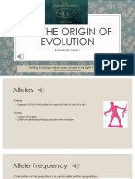 Evolutionary Theory Lecture for Blackboard