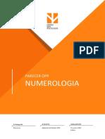 Parecer OPP Sobre Numerologia