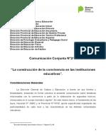 COMUNICACION CONJUNTA  N°2-17 La construcción de la convivencia en las instituciones  educativas MODIFICADA