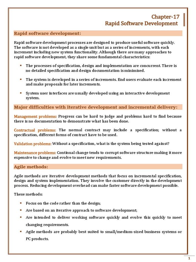 Chapter 17 | Software Development Process | Agile Software Development