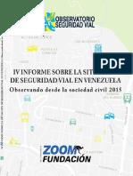 IV-Informe Sobre Seguridad Vial en Venezuela - 2015
