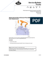 CombustibleExhaust Fluid (DEF) Pump Unit, Replacement