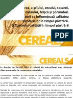 Pastrarea cerealelor