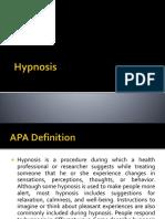 Hypnosis Lec
