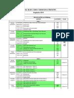 Jadwal Blok 3 Dan 4 Tahun 2014