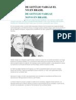 Gobierno de Getúlio Vargas