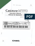 Casio MT-70 User Manual