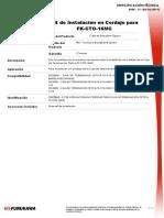 KIt de Instalacion en Cordon Para Fk-cto-16-Mc