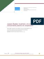 Lesson Studies re-pensar y re-crear el conocimiento práctico en cooperación